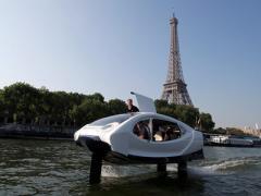 无噪音无污染 法国水上出租车开始测试