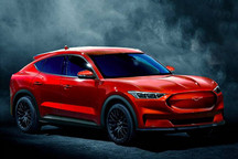 """对标Model Y 曝福特纯电动""""Mustang""""渲染图"""